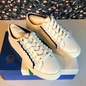 Tory Burch ruffle leather sneakers